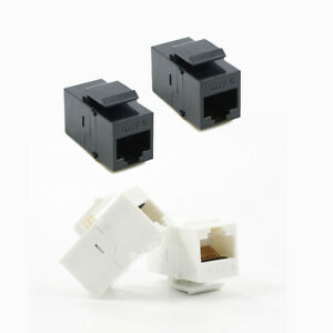 2 x CAT6 RJ45 Keystone In-line Coupler Extender Adapter Wall Plate Patch Panel