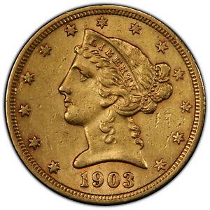 1903-S Coronet Head $5 Gold Coin