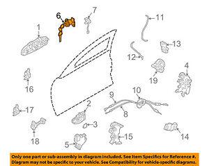 Infiniti NISSAN OEM 03-06 G35 Front Door-Lock Cylinder H0601AL500