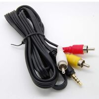 3.5mm to RCA AV A/V TV Video Cable Cord For Mach Speed Trio MP3 MP4 Media Player