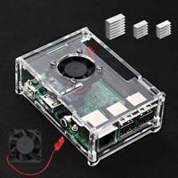 Raspberry Pi 3 B + Case with Fan and 3 Pcs Heatsink for Raspberry Pi Model B