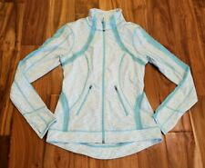 NEW Women's TANGERINE Mint Blue Active Track Exercise Hooded Jacket Small S