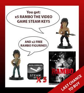 x5 Rambo The Video Game PC STEAM KEYS + BAKER TEAM DLC + 2 FREE RAMBO FIGURINES