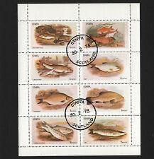 OPC 1973 Staffa Scotland Fish Sheet of 8 CTO MNH