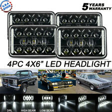 4PCS 4x6 INCH H4651 H6545 60W LED Headlight Projector DRL For Chrysler Pontiac