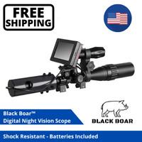 Black Boar Night Vision Infrared Rifle Scope Hunting Sight 850nm 200M IR Camera