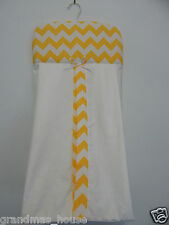 Yellow Chevron Nappy Diaper Stacker 100% Cotton  **Available in 9 Colours**