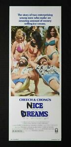 """1981 Cheech & Chong's """"NICE DREAMS"""" 14x36 Movie Insert Poster NEVER ROLLED rare"""