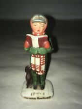 Norman Rockwell Porcelain Christmas Caroling bow with puppy - 10267