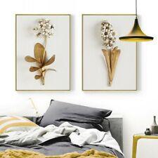 Gelb Golden Blumen Orchidee 3 Teile Leinen Wandkunst Bild Geschenk Wohndeko Hot