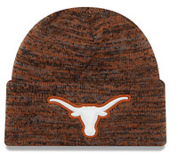 Texas Longhorns NCAA Men's New Era Sport Knit Cuffed Pom Beanie