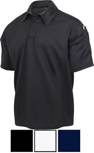 Tactical Performance Polo Shirt Short Sleeve Security Officer Moisture Wicking
