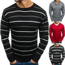 BOLF Herren Pullover Sweater Sweatshirt Strickpullover Gestreift Mix 5E5 Motiv