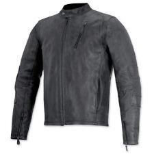 Alpinestars Monty Vintage Leather Motorcycle Jacket - Black 42