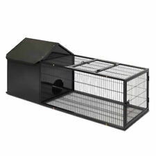 Metal Rabbit Hutch - 120cm, Black (PET-RAB-CAGE-RT00A)