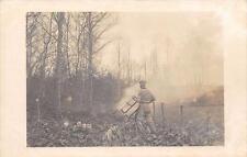 CPA 52 CARTE PHOTO BOIS D'ORMOY EN NOVEMBRE 1913 SCIERIE FOUCHERY