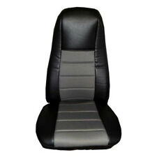 Seat Cover w/Pocket - Black/Gray Leather - Peterbilt, Freightliner Semi Truck