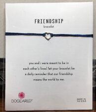 Women Owned/Operated! Dogeared FRIENDSHIP Bracelet*Blue SILK*Silver Heart*NIP!