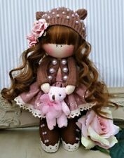 Handmade Rag Doll Hand made in UK Tilda doll Ooak doll ARIANA 8 inch tall