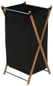 Household Essentials 6540-1 Collapsible Bamboo X-Frame Laundry Hamper | Bamboo