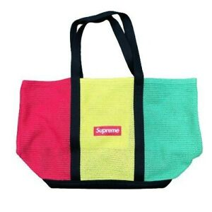 Authentic Brand New Supreme Multicolor String Tote Bag SS21