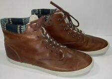 Women Boots Size 10 Brown Leather Faux Fur Lined Bucketfeet