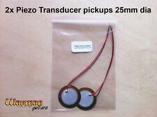 Piezo Transducer Pickups, acoustic, banjo, cigar box