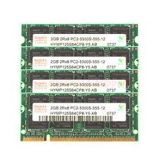 NEW Hynix 4X 2GB Notebook RAM 2Rx8 PC2-5300S DDR2 667Mhz 200pin Laptop SO-DIMM