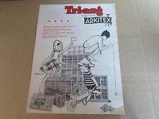 323O 1962'S Tri-Ang Arkitex France Recto Verso Publicité du jeu de Construction