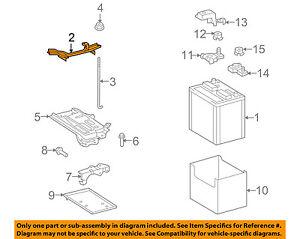Scion TOYOTA OEM 08-15 xB 2.4L-L4 Battery-Hold Down Tie Bracket Clamp 7440412460