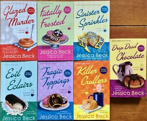 Lot of 7 Donut Shop paperback books by Jessica Beck Food Mystery series