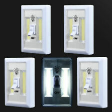 COB LED ON/OFF Wall Switch Cordless Battery Operated Closet Bed Night Light Lamp