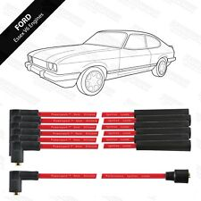 Powerspark Double Silicon HT Lead Set for Ford Essex V6 - Red