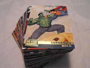 MARVEL VERSUS DC COMPLETE BASIC SET OF 100 CARDS