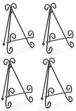 ~~FOUR (4) METAL SCROLL DESIGN EASEL STAND~SMALL PLATE DISPLAY~~