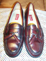 """Bass cordovan leather tassel moccasin """"Harrison"""" size 8D in excellent condition"""
