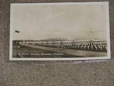 RPPC, U.S. Military Cemetery Margraten, Holland, Netherlands, used vintage card