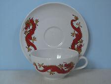 Seltmann-Weiden Liane roter Drache Teetasse mit Untertasse Japan China