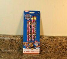 Nickelodeon Paw Patrol Pencils School Stationary Supplies 6 Pack Set NEW