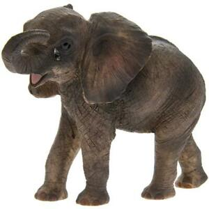 MISSING YOU CRYING TEARDROP STANDING AFRICAN ELEPHANT CALF ORNAMENT FIGURINE GIF