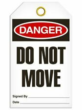 Danger Do NotMove Safety Tag | Pack of 25 | Incom