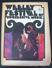 WEELEY FESTIVAL 1971 UK CONCERT PROGRAM T-Rex FACES King Crimson STATUS QUO +++
