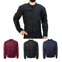 Men's Maximos Contrasting Mesh Full Lightweight Polyester Bomber Track Jacket
