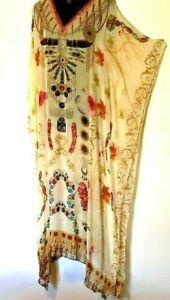 """Kaftans / Embellished /  """"HUGE SALE"""" /  Silky Viscose / Long / Plus /  RR$149.95"""