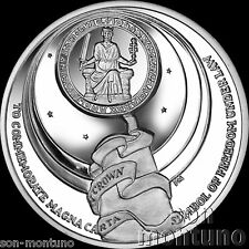 MAGNA CARTA SIGNING - 800th Anniversary - 2015 Ascension Island CuNi DISHED COIN