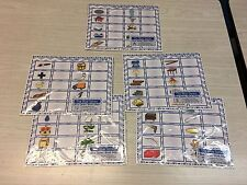 The Blue Series - Complete - Vowel Set - Laminated Mats And Card Sets Montessori