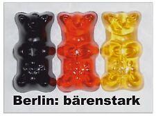 "Neuware! ""BERLIN: BÄRENSTARK"" 3x Kühlschrank-Magnet 8x6cm Gummibärchen Souvenir"