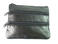 Ladies Mens Quality Real Leather Coin Pouch Purse Credit Card Holder Key Holder