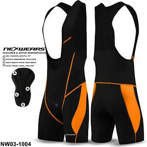 NEW Mens Cycling Bib Shorts Cycle Compression Lycra Tights Pants Coolmax Padded