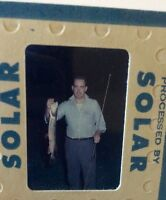 Vintage 35mm Slide Fisherman Fishing Rod Mid Century America Sportsman